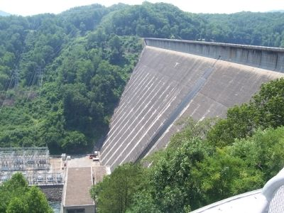 Fontana Dam-as seen from visitors center side image. Click for full size.