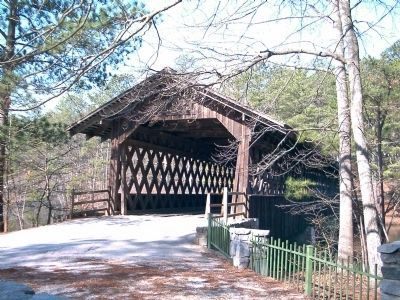 Stone Mountain Covered Bridge Portal image. Click for full size.