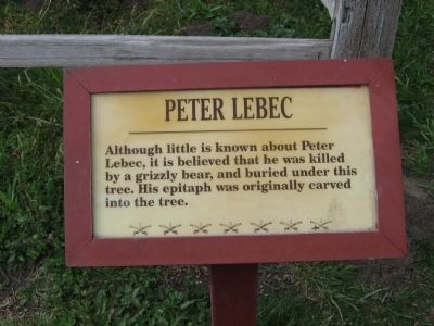 Peter Lebec Marker Photo, Click for full size