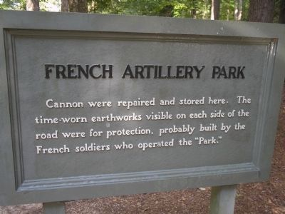 French Artillery Park Marker image. Click for full size.