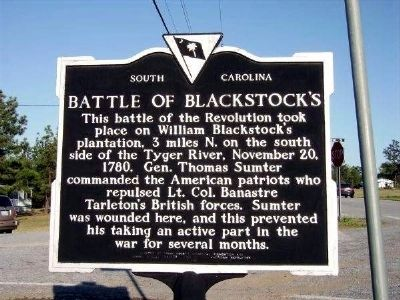 Battle of Blackstock�s Marker Photo, Click for full size