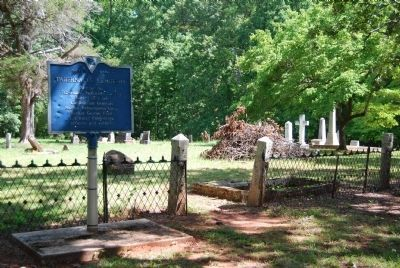 Original Tabernacle Cemetery Marker and Cemetery image. Click for full size.