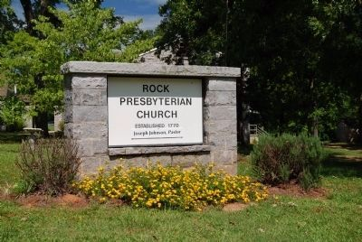 Rock Presbyterian Church Sign image. Click for full size.