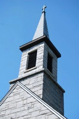 Rock Presbyterian Church Steeple image. Click for full size.