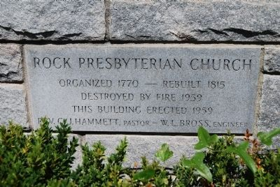 Rock Presbyterian Church Cornerstone image. Click for full size.