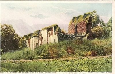 Vintage Postcard of Mission Ruins Prior to Restoration image. Click for full size.
