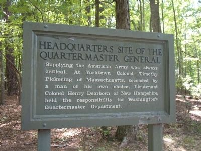 Headquarters Site of the Quartermaster General Marker image. Click for full size.