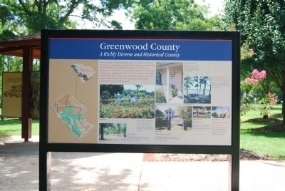 Greenwood County Marker -<br>Previous Location image. Click for full size.