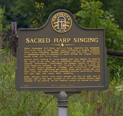 Sacred Harp Singing Marker in 2008 image. Click for full size.