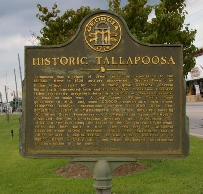 Historic Tallapoosa Marker image. Click for full size.