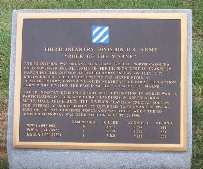 Third Infantry Division, U.S. Army Marker image. Click for full size.