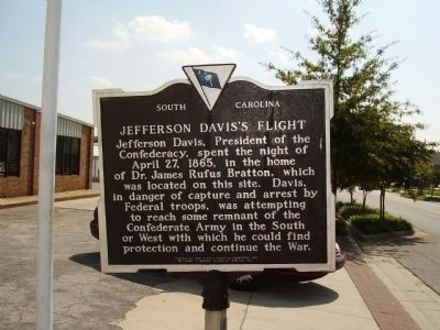 Jefferson Davis's Flight Side Photo, Click for full size