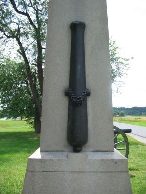 Cannon Figure on the Side of the Monument image. Click for full size.