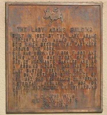 Lady Adams Building Marker image. Click for full size.