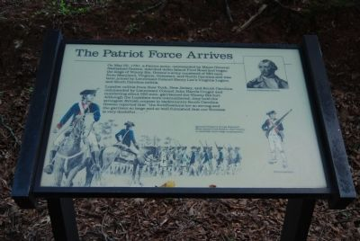 Original The Patriot Force Arrives Marker Photo, Click for full size