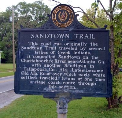 Sandtown Trail Marker image. Click for full size.