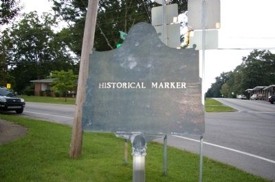 "Rear of Sandtown Trail Marker (Identifying it as a ""Historical Marker"" image. Click for full size."