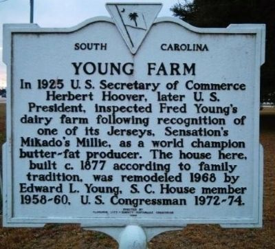 Young Farm Marker Photo, Click for full size
