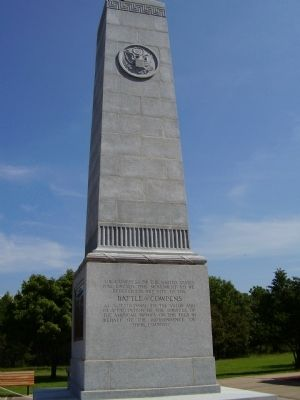 Battle of Cowpens Monument -<br>South Facade image. Click for full size.