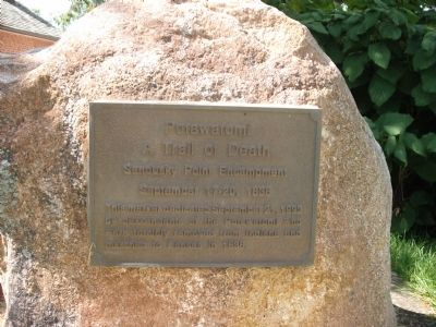 Potawatomi - A Trail of Death Marker image. Click for full size.