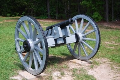 Six Pounder Used by Greene -<br>No Longer on Display image. Click for full size.