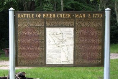 Battle of Brier Creek - Mar.3, 1779 Marker Photo, Click for full size