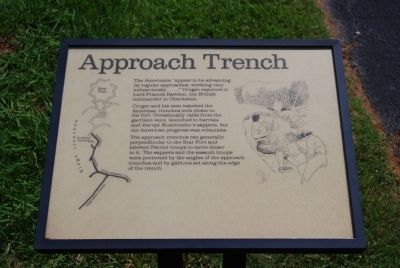 Original Approach Trench Marker Photo, Click for full size