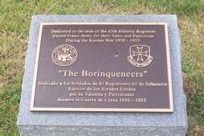 """The Borinqueneers"" Marker image. Click for full size."