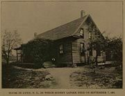 Sidney Lanier House where he died. image. Click for full size.