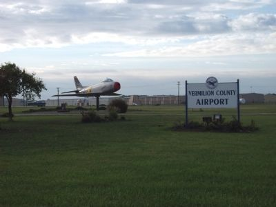 Entrance to Vermilion County Airport image. Click for full size.
