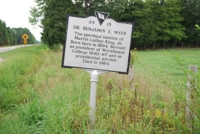 Dr. Benjamin E. Mays Marker image. Click for full size.