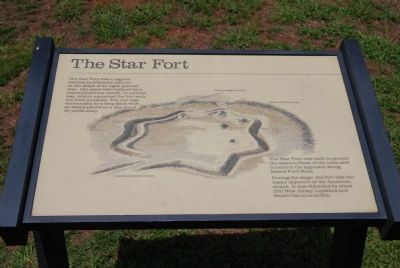 Original The Star Fort Marker image. Click for full size.