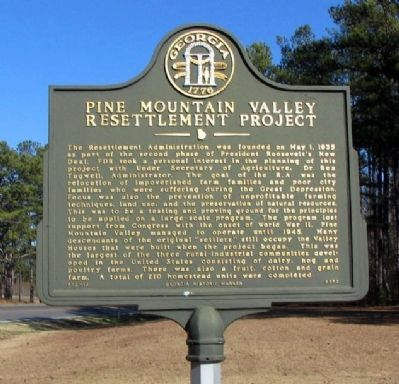 Pine Mountain Valley Resettlement Project Marker image. Click for full size.