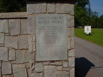 Spartanburg Water Works Marker image. Click for full size.