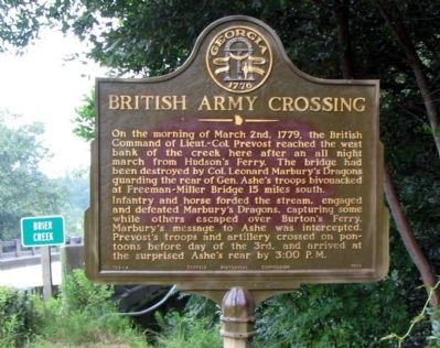 British Army Crossing Marker Photo, Click for full size
