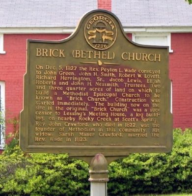 Brick (Bethel) Church Marker image. Click for full size.