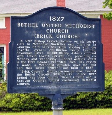 1827 Bethel United Methodist Church Marker image. Click for full size.