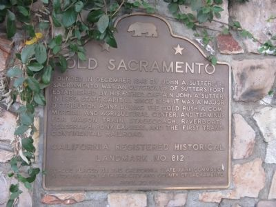 Old Sacramento Marker image. Click for full size.