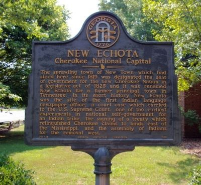 New Echota Marker image. Click for full size.