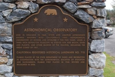 Astronomical Observatory Marker image. Click for full size.