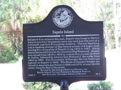 Sapelo Island Marker image. Click for full size.