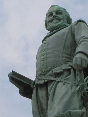 Closeup of Captain John Smith Statue image. Click for full size.