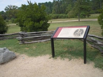 Marker in Historic Jamestowne image. Click for full size.