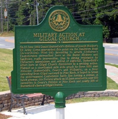 Military Action at Gilgal Church Marker image. Click for full size.