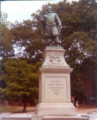 Captain John Smith Governor of Virginia 1608 image. Click for full size.