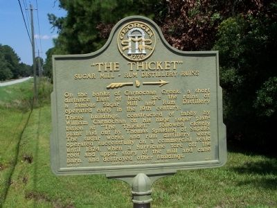 """The Thicket"" Sugar Mill-Rum Distillery Ruins Marker image. Click for full size."
