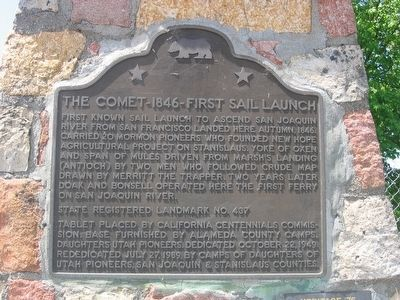 The Comet – 1846 – First Sail Launch Marker image. Click for full size.