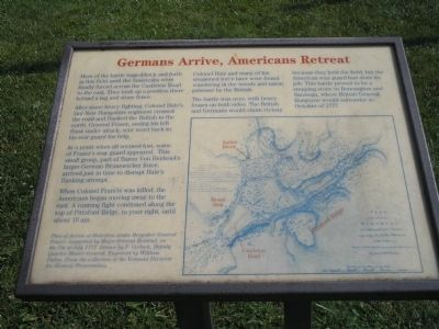 Germans Arrive, Americans Retreat Marker image. Click for full size.