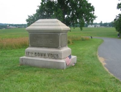 17th Connecticut Volunteers Monument image. Click for full size.