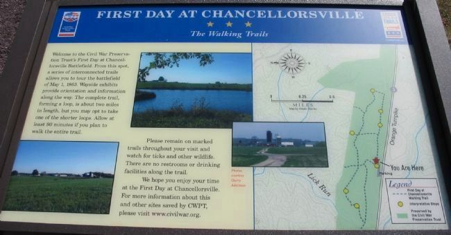 First Day at Chancellorsville<br>The Walking Trails image. Click for full size.